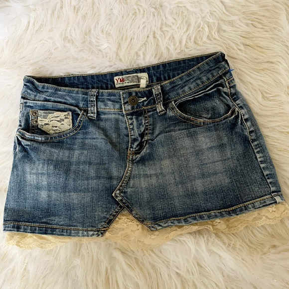 Dresses & Skirts - Denim mini skirt women